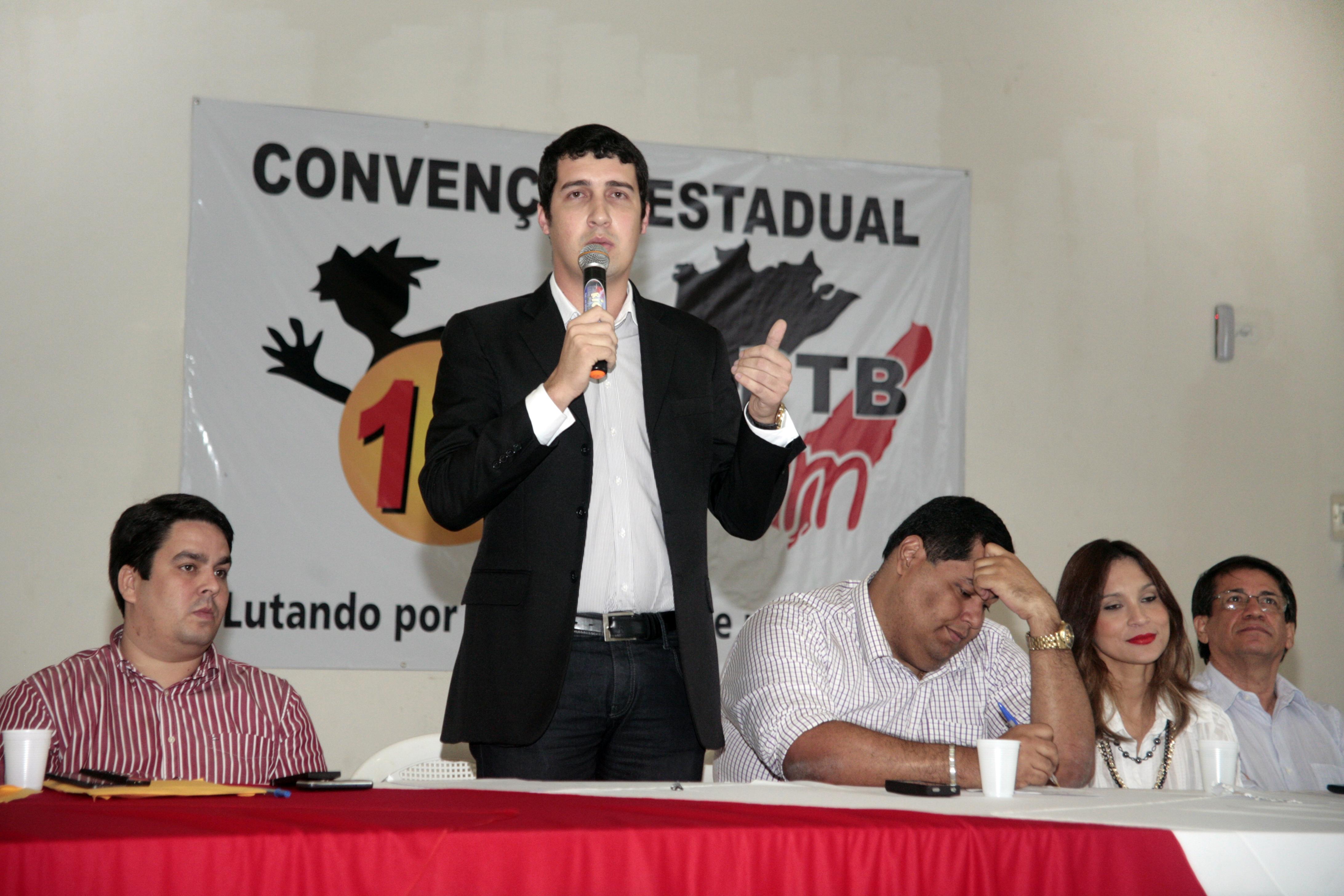 Bruno Pedro foi eleito por aclamação, em convenção realizada nesta sexta-feira, em Maceió